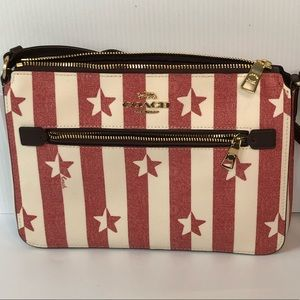 Coach Gallery File Bag With Stripe Star Print NWT